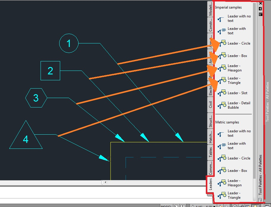 Drawing Lines In Keynote : Leaders with shapes made easy autocad tips