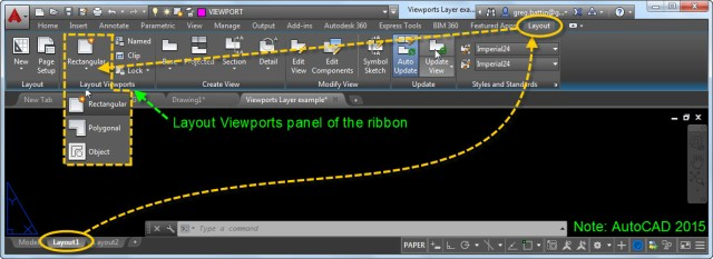Layout Viewports of the ribbon