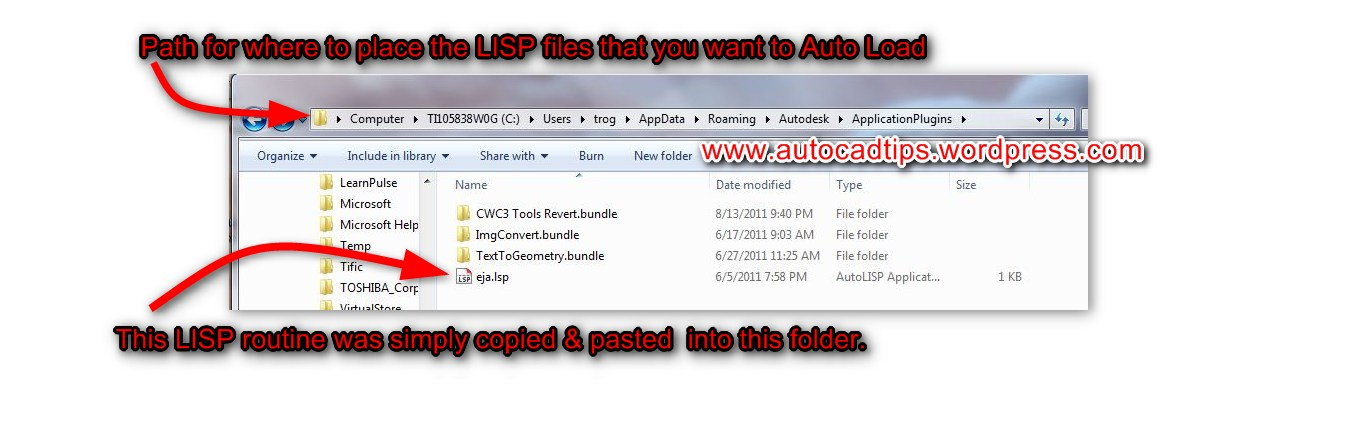 Auto Load Your Lisp Files (& others) | AutoCAD Tips