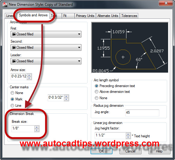 Drawing Lines Between Text Boxes : Dimbreak break dimension lines autocad tips