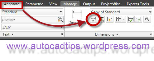 how to show dimensions in autocad 2015