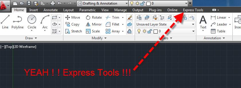 express tools autocad 2014