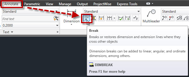 Remove Dimbreaks From Objects | AutoCAD Tips