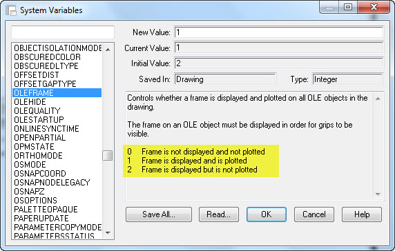 Adding OLE Objects and Make Them Print | AutoCAD Tips