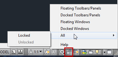 Lock the Position of your Toolbars and Palettes | AutoCAD Tips