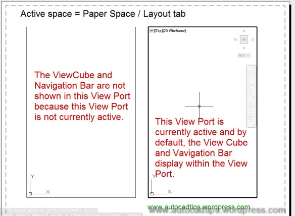 Control the Display of The View Cube and Navigation Bar | AutoCAD Tips