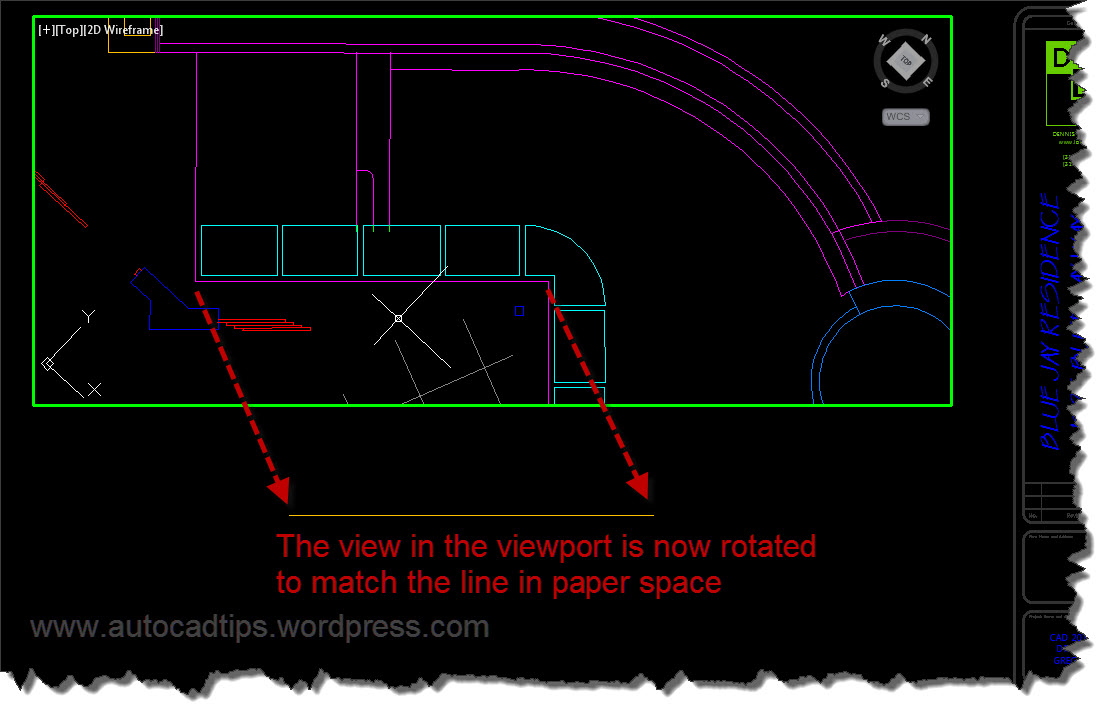Drawing Lines In Autocad Using Coordinates : Use align space to easily a viewport view autocad tips