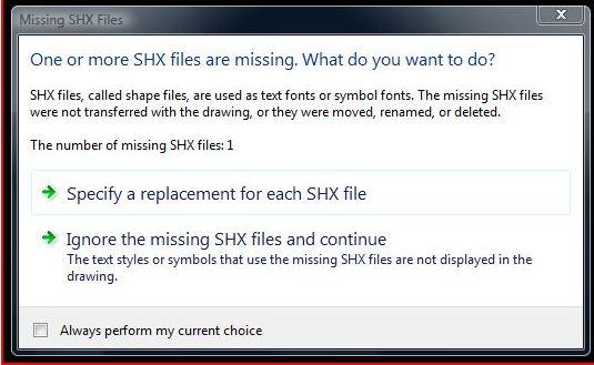 Missing SHX 1