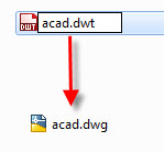 change file type to .dwg