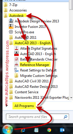 Opening the Reference Manager