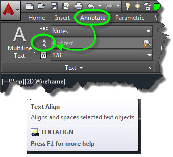 Dtext single line text and makes the process of aligning text easy