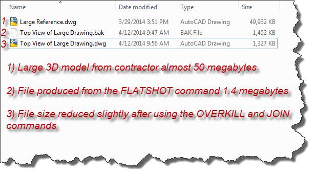 Flatshot 4  File shize comparison