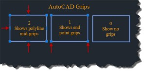 AutoCAD Grip Settings