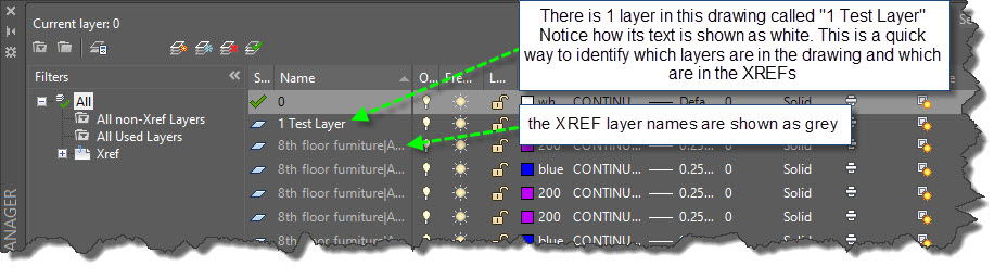 AutoCAD 2016 XREF Layer Controls | AutoCAD Tips
