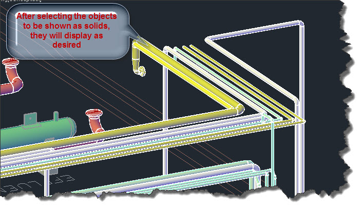 Cadworx piping displays as single line autocad tips