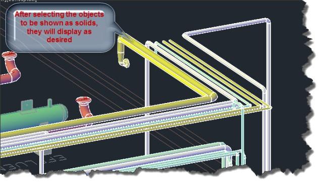 3 CADWorx Pipe displays one line