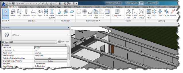3D view of Revit model