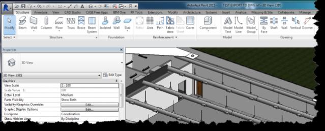3D view of Revit model