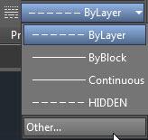 Linetype in the Properties Panel 2